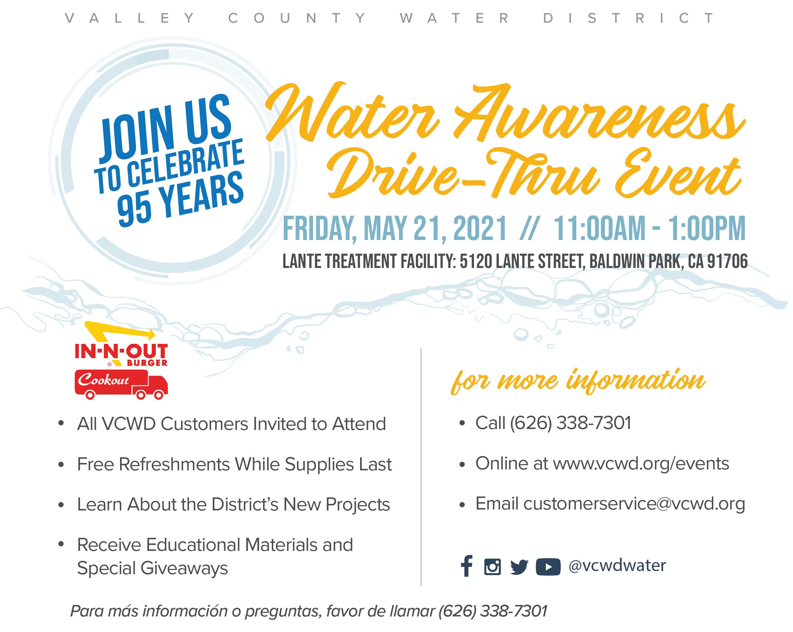Water Awareness Event Information